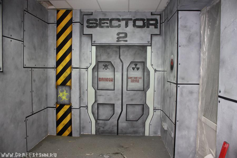 Граффити оформление игровой комнаты